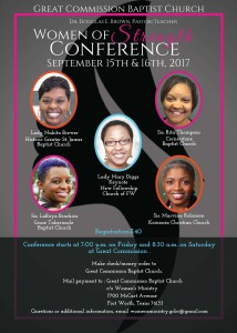 GCBC 2017 Womens Conference Flyer